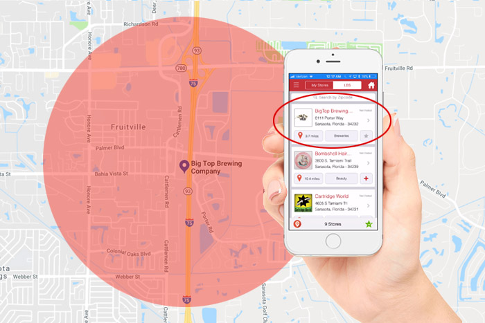 RedSwipe Geofencing Local Deals